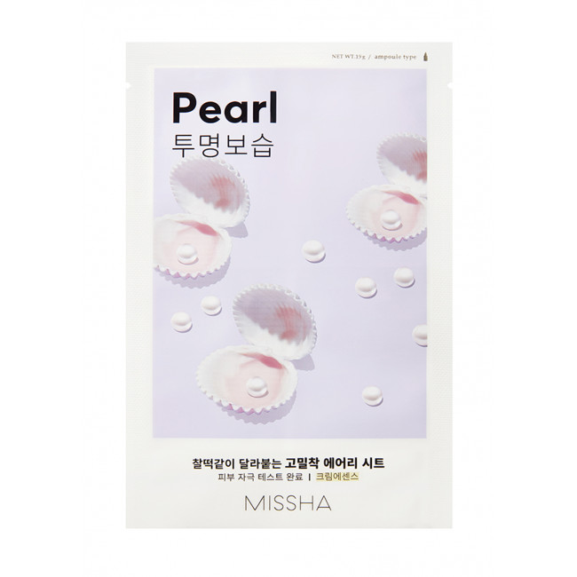 MISSHA Маска для лица Airy Fit Sheet Mask #pearl, 19g