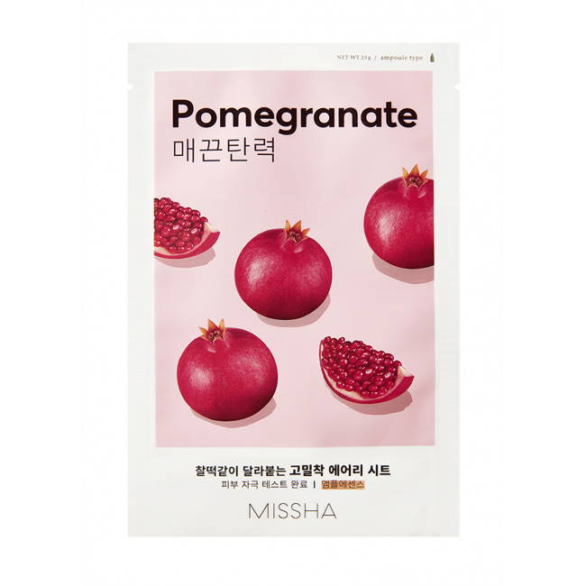 MISSHA Маска для лица Airy Fit Sheet Mask  #pomegranate, 19g