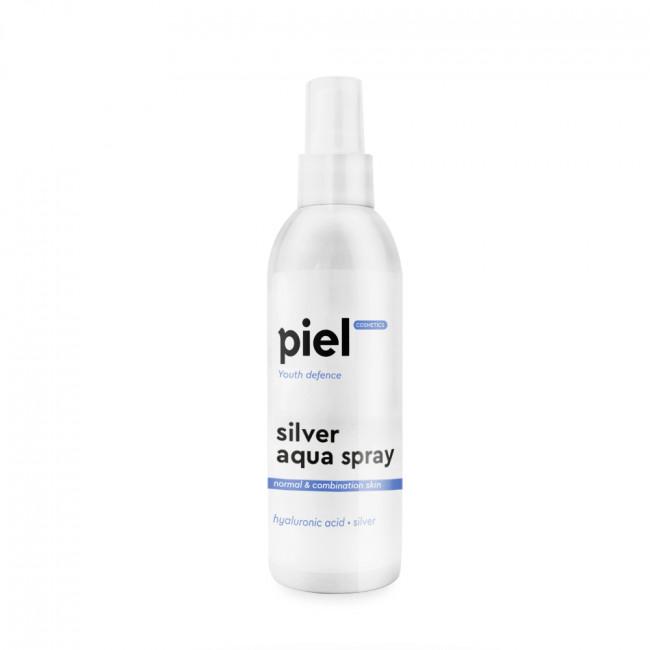 PIEL Зволожуючий спрей для нормальної та комбінованої шкіри Silver Aqua Spray Travel Size