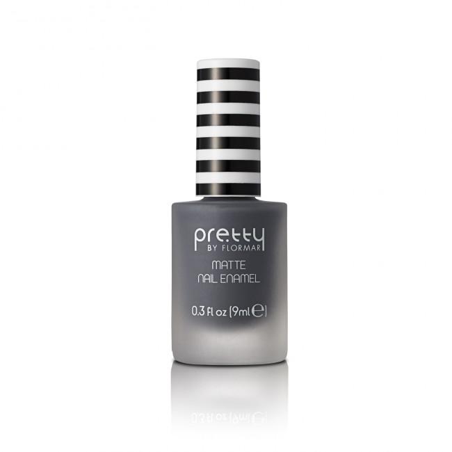 PRETTY MATTE NAIL ENAMEL лак для нігтів матовий №012, Grey