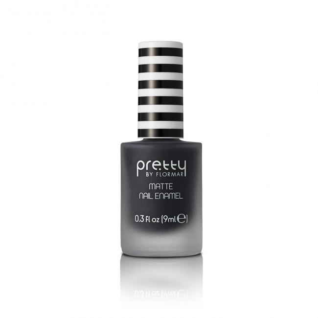 PRETTY MATTE NAIL ENAMEL лак для нігтів матовий №013, Black