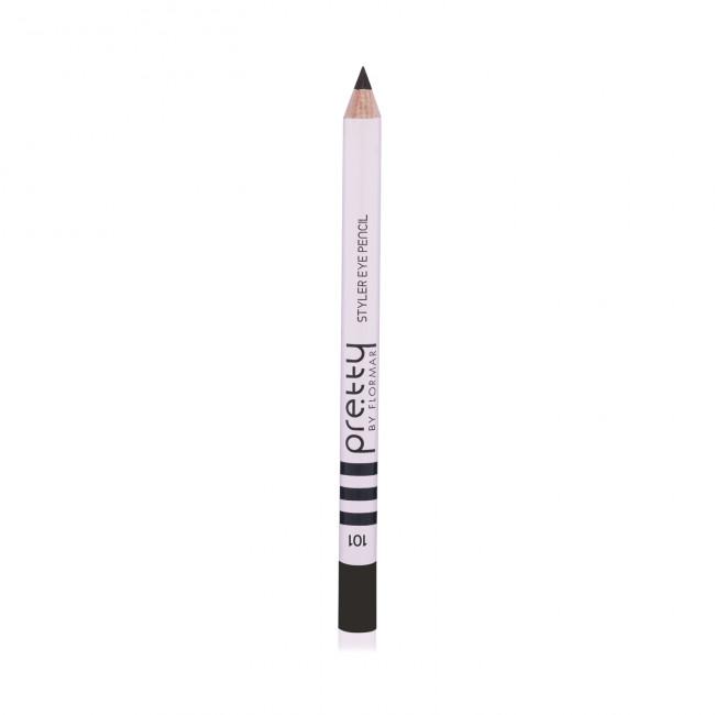 PRETTY EYE PENCIL олівець для очей №101, Ebony