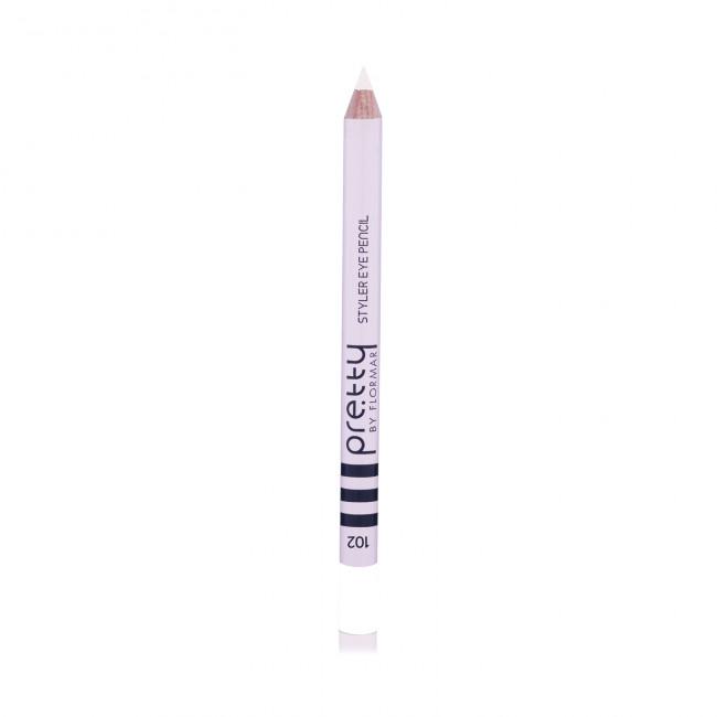 PRETTY EYE PENCIL олівець для очей №102, Silver Night