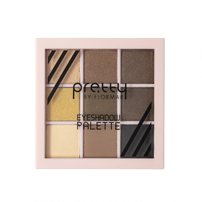 PRETTY EYESHADOW PALETTE палетка теней для глаз №01, EARTH