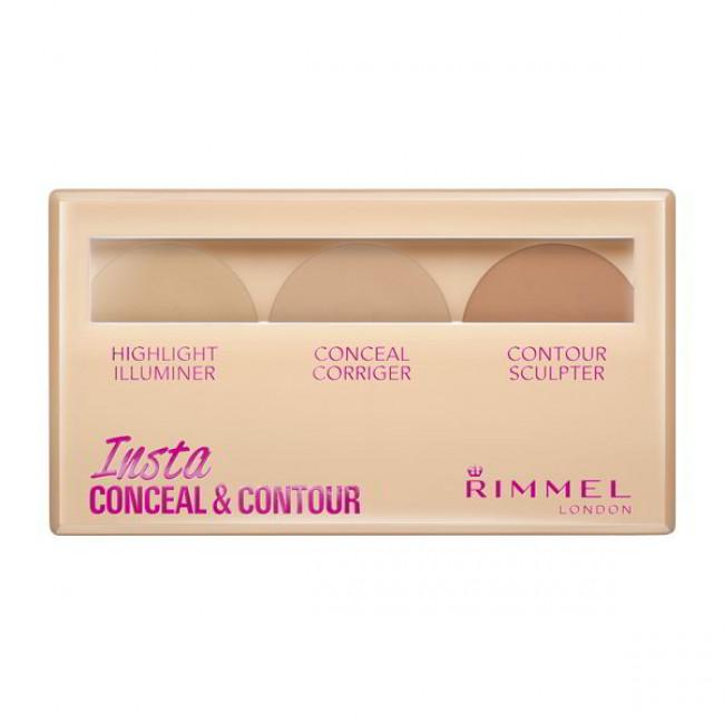 RIMMEL Набор для контурировання лица INSTA CONCEAL & CONTOUR №010 Light