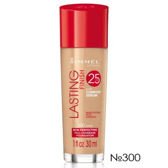 Тональная основа для лица RIMMEL LASTING FINISH №300, 30 мл