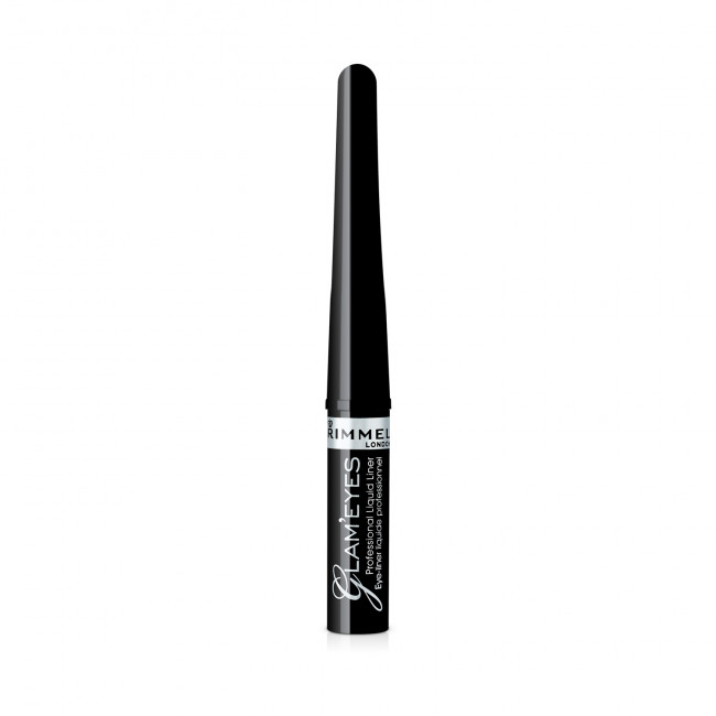 RIMMEL Підводка для очей GLAM'EYES PROFESSIONAL LIQUID LINER чорна