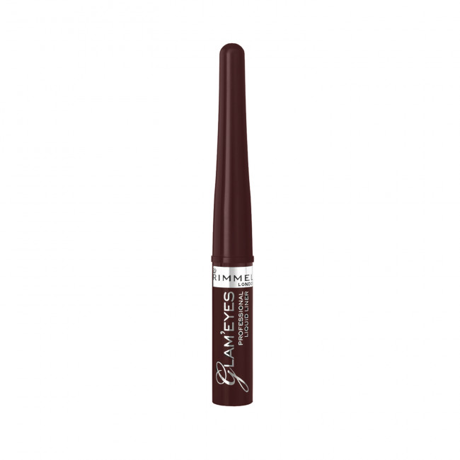 RIMMEL Підводка для очей GLAM'EYES PROFESSIONAL LIQUID LINER коричнева