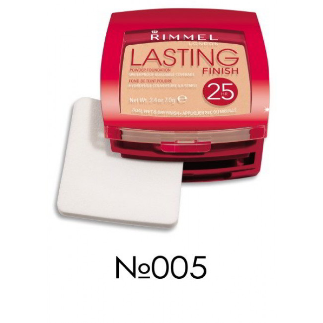 Компактная пудра для лица RIMMEL LASTING FINISH №005