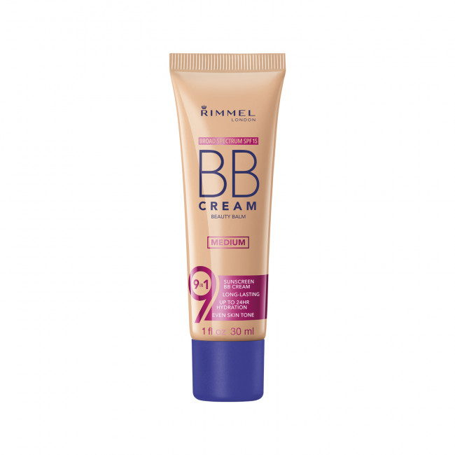 RIMMEL Основа тональна BB CREAM 9-in-1 №02, 30 мл