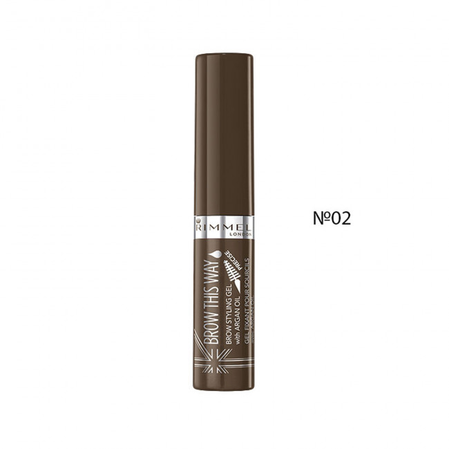 RIMMEL Гель для бровей BROW THIS WAY ARGAN OIL, №02