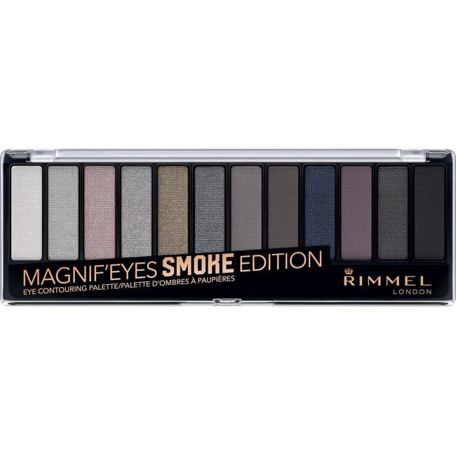 RIMMEL Палетка тіней для повік MAGNIF'EYES EYE COUNTOURING PALETTE  №003 SMOKE EDITION