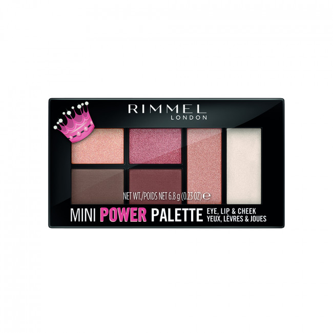 RIMMEL MINI POWER PALETTE Палетка 3в1: тіні, помада, рум'яна №003