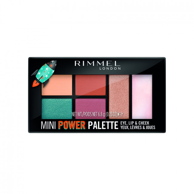 RIMMEL MINI POWER PALETTE Палетка 3в1: тіні, помада, рум'яна №004