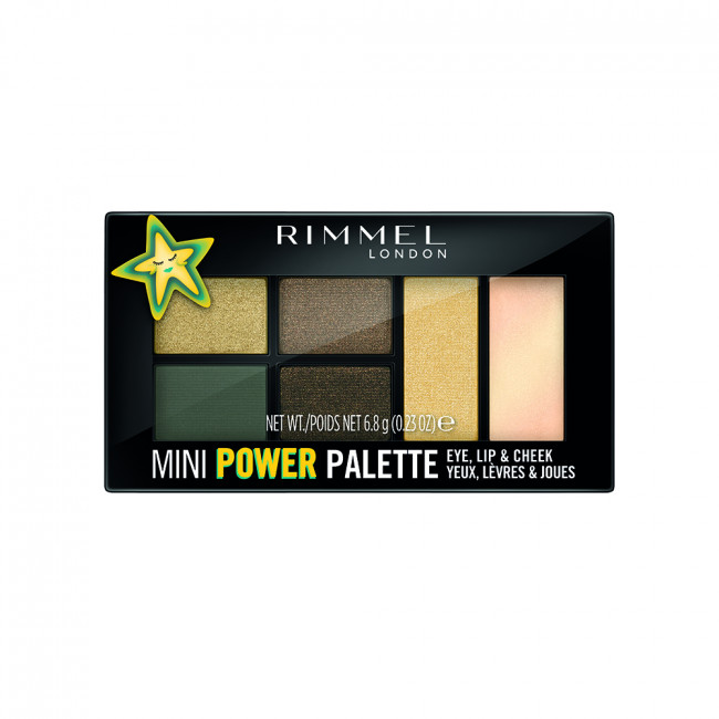 RIMMEL MINI POWER PALETTE Палетка 3в1: тіні, помада, рум'яна №005