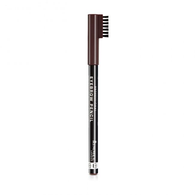 RIMMEL Карандаш для бровей EYEBROW PENCIL №01 Темно-коричневый