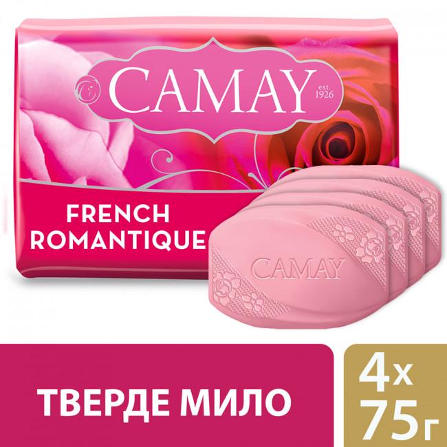 CAMAY Мыло туалетное Романтик 4х75г