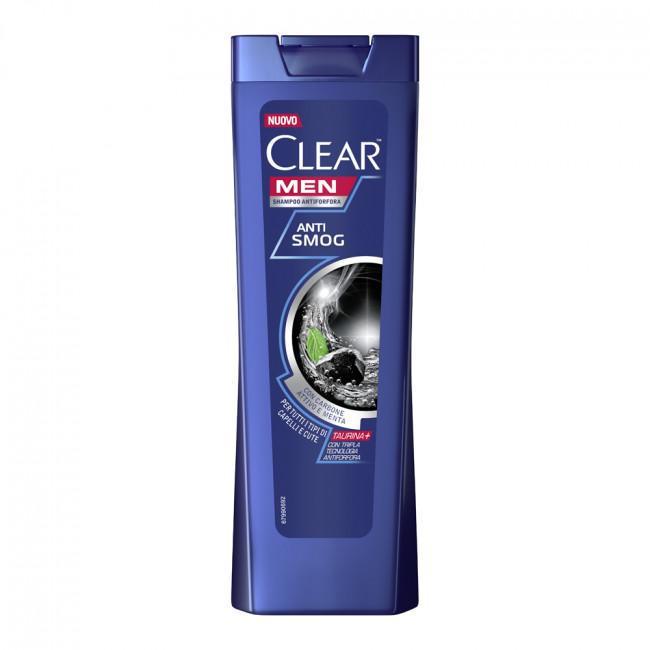 CLEAR Vita ABE Шампунь проти лупи Глибоке очищення для чоловіків з вугіллям і м'ятою, 225мл.