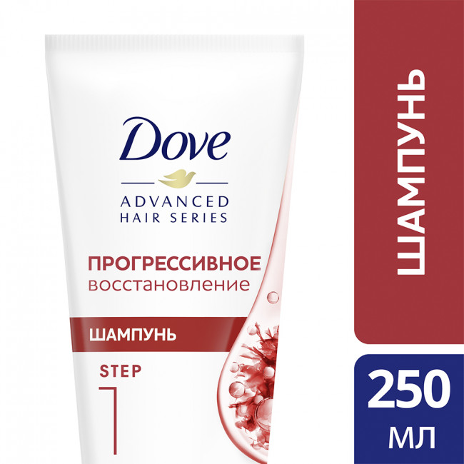 DOVE Шампунь Advanced Hair Series Прогрессивное восстановление 250мл