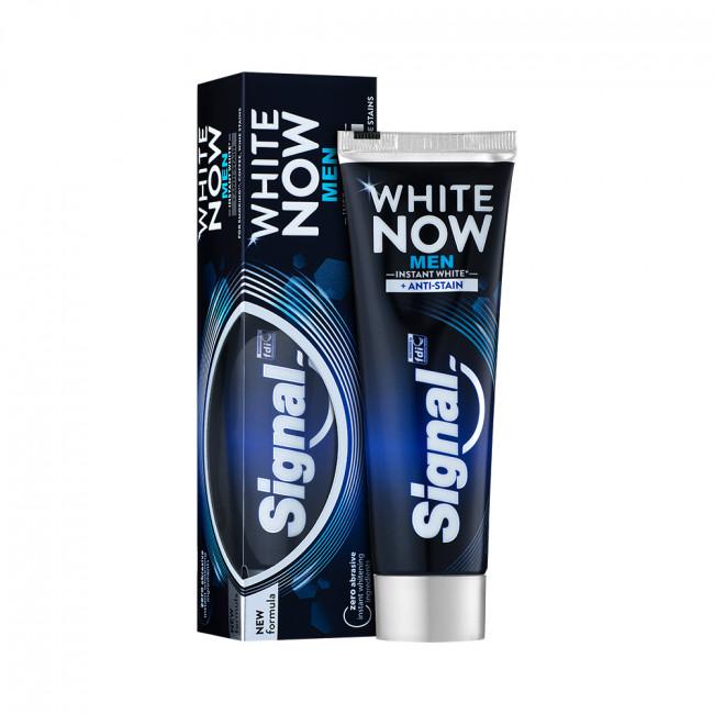 SIGNAL Зубна паста миттєве відбілювання Проти плям на зубах (для чоловіків) 75мл