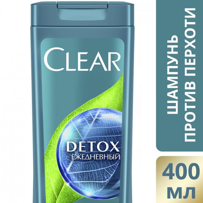 CLEAR Vita ABE Шампунь против перхоти Детокс на каждый день для женщин, 400мл.