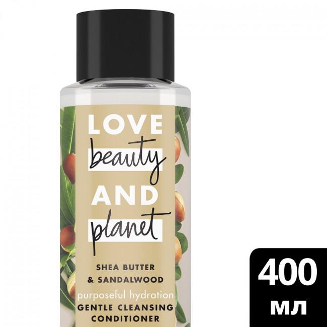 LOVE BEAUTY AND PLANET Кондиционер для волос очищающий Счастье и Увлажнение 400мл