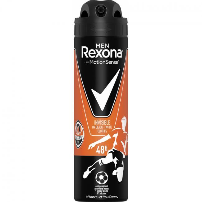 REXONA Антиперспирант аэрозоль Invisible для черного и белого 150 мл