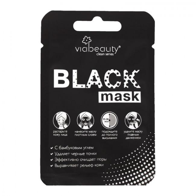 VIA BEAUTY Очищуюча Black Mask з бамбуковим вугіллям