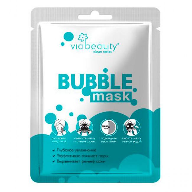 VIA BEAUTY Очищающая BUBBLE Mask с гиалуроновой кислотой