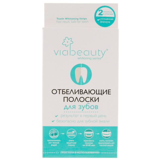VIA BEAUTY Отбеливающие полоски для зубов, 2 шт.