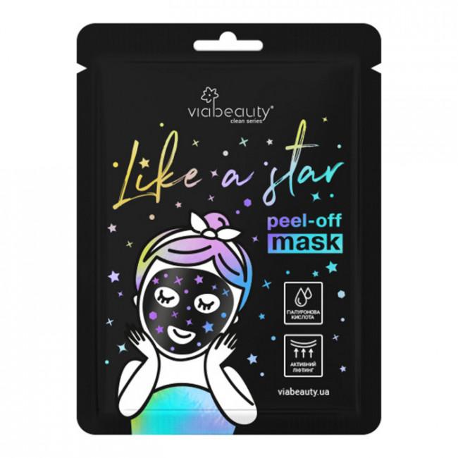 VIA BEAUTY Маска-плівка Like a Star з гіалуроновою кислотою