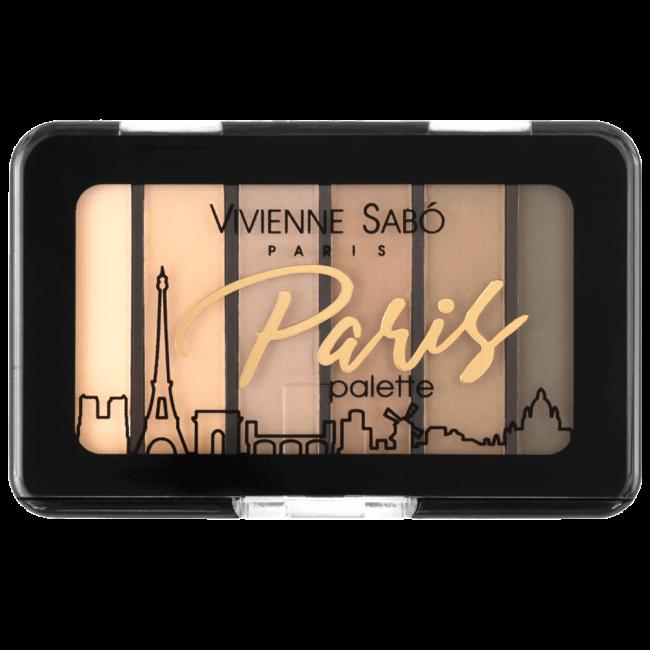 VIVIENNE SABO Палетка теней для век PARIS 6 цветов №01